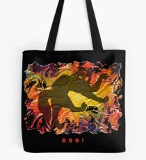 BOO! HALLOWEEN SCARY CAT Tote Bag