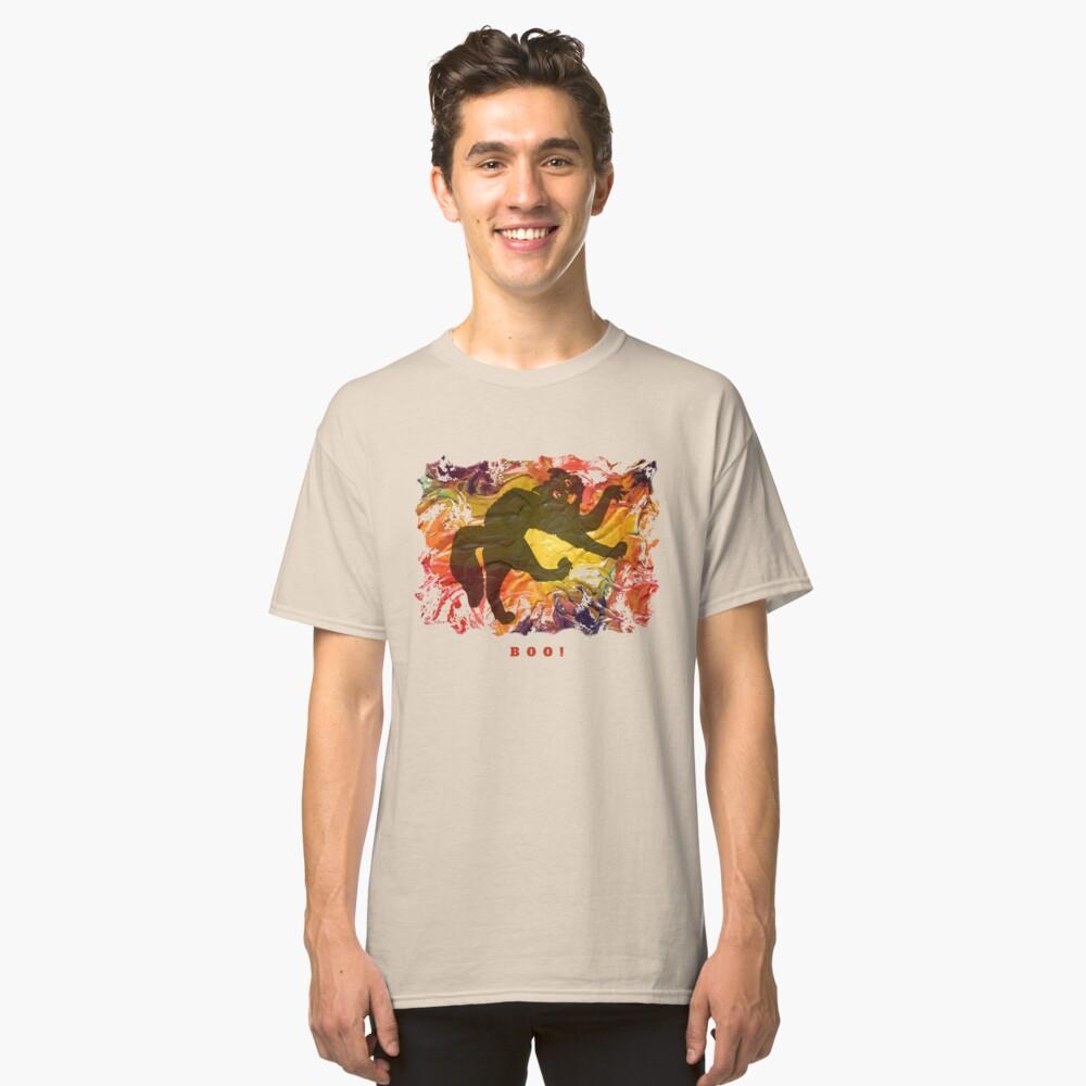 BOO! HALLOWEEN SCARY CAT Classic T-Shirt