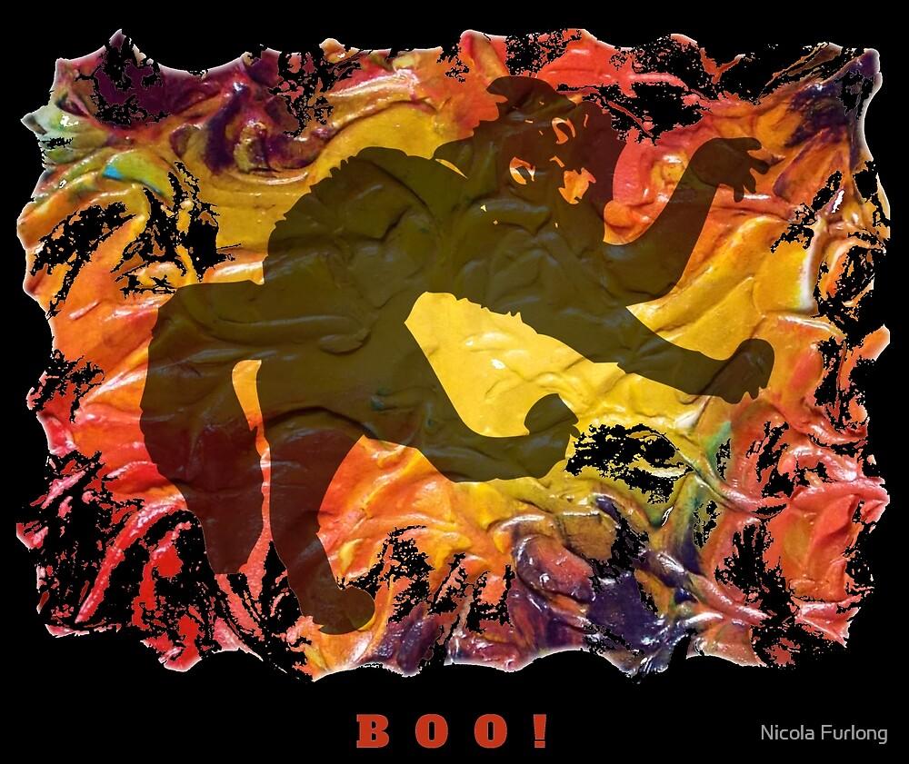 BOO! HALLOWEEN SCARY CAT by Nicola Furlong