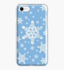 Snowflakes in White + Blue 2 | 'Tis the Season Series iPhone Case/Skin