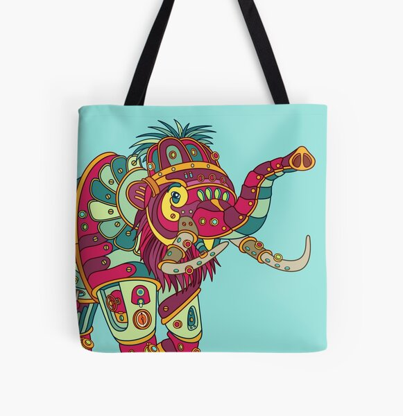 Mammoth, from the AlphaPod collection All Over Print Tote Bag