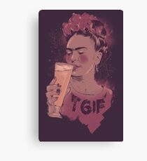 Thank God It's Frida Canvas Print