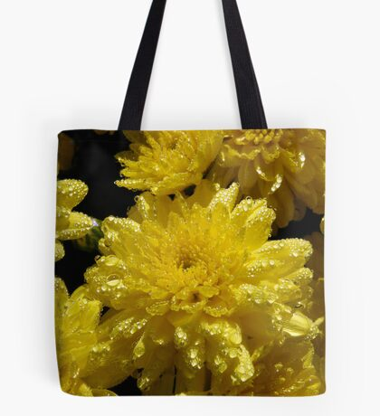 Raindrops on Roses, I Mean Mums Tote Bag