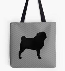 Pug Silhouette(s) Tote Bag