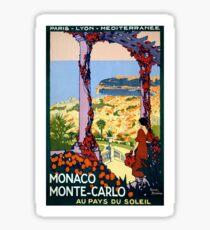 Vintage Monaco Monte Carlo Vintage  Poster Sticker