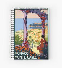 Vintage Monaco Monte Carlo Vintage  Poster Spiral Notebook