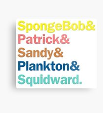 SpongeBob Squarepants Characters | Colors Metal Print
