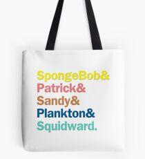 SpongeBob Squarepants Characters | Colors Tote Bag
