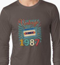 30th Birthday Retro Vintage 1987 Cool Old School  T-Shirt