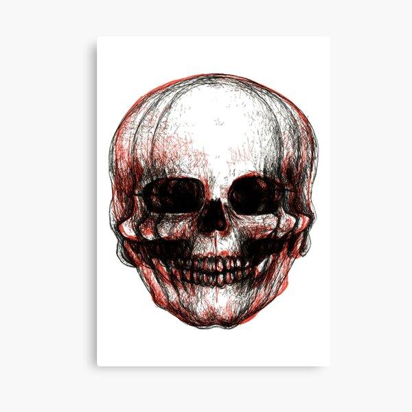 multi skull Canvas Print