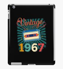 50th Birthday Retro Vintage 1967 Cool Old School  iPad Case/Skin