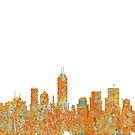 Indianapolis, Indiana Skyline - Rost von Marlene Watson