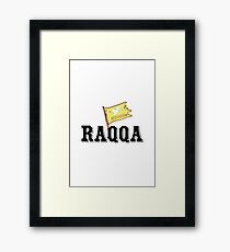 Raqqa - Syrian democratic forces flag Framed Print