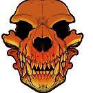 Werewolf skull by missmonster