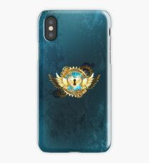 Closed Heart ( Steampunk Gold Heart ) iPhone Case