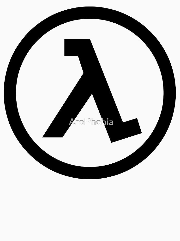Half Life Lamba Logo Symbol Black Mesa Black Unisex T Shirt By