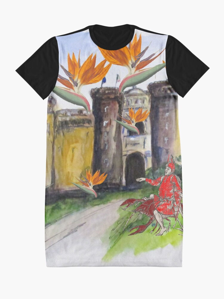 Alternate view of Castle Nuovo Under Attack Graphic T-Shirt Dress
