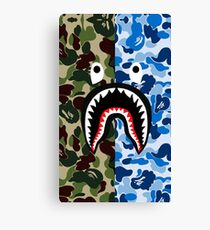 A Bathing Ape Blue Shark Canvas Print