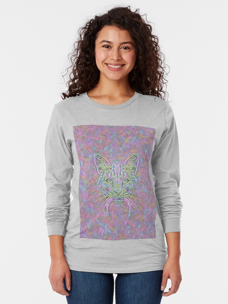 Alternate view of Abstract Cat Long Sleeve T-Shirt