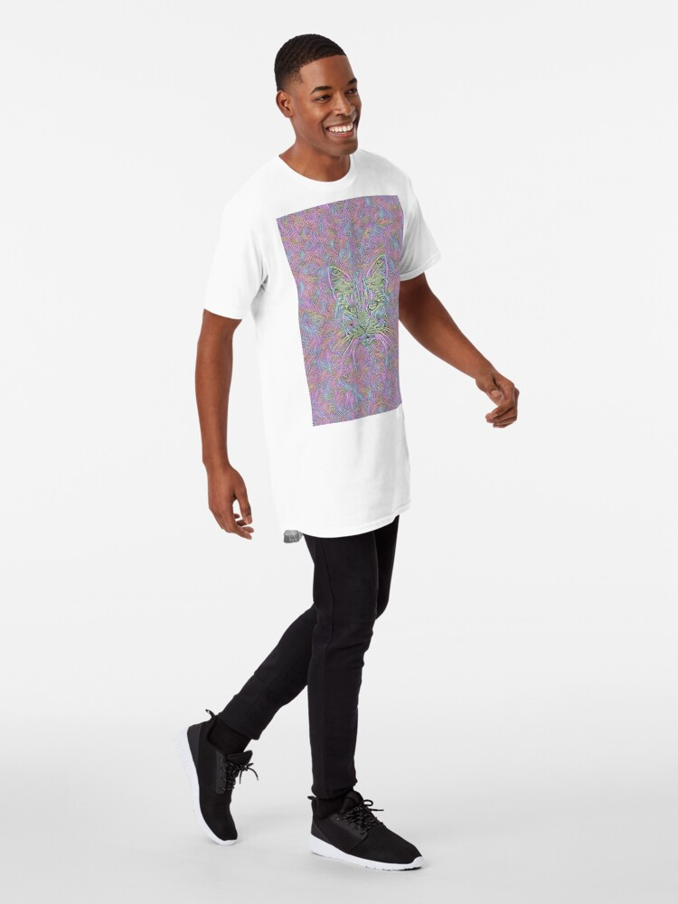 Alternate view of Abstract Cat Long T-Shirt