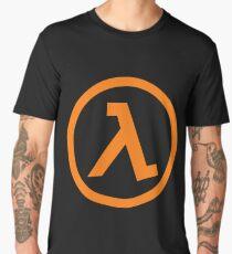 Half-Life Lamba Logo Symbol Black Mesa Orange Men's Premium T-Shirt
