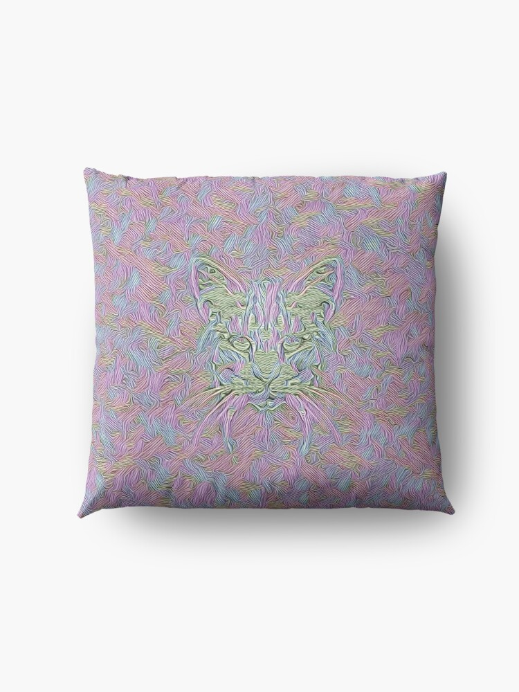 Alternate view of Abstract Cat Floor Pillow