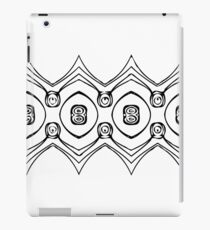 Zig Zag in Black and White iPad Case/Skin