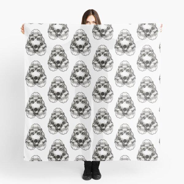 3 skull pattern  Scarf