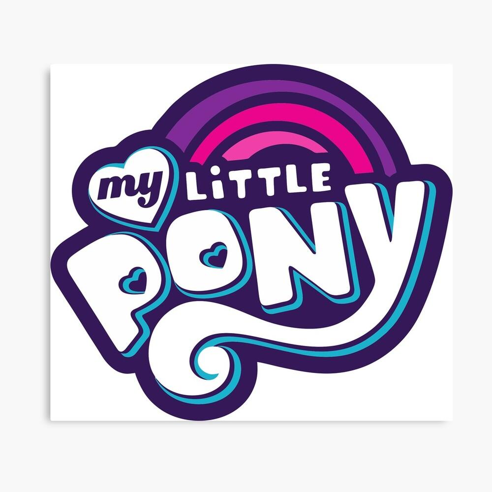 My Little Pony Logo Merchandise Canvas Print