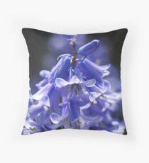 Beautiful Blue of Bluebells Throw Pillow