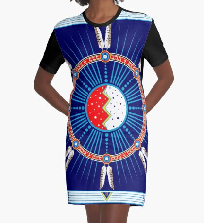 Crazy Horse Dreaming Graphic T-Shirt Dress
