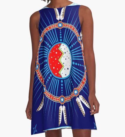 Crazy Horse Dreaming A-Line Dress
