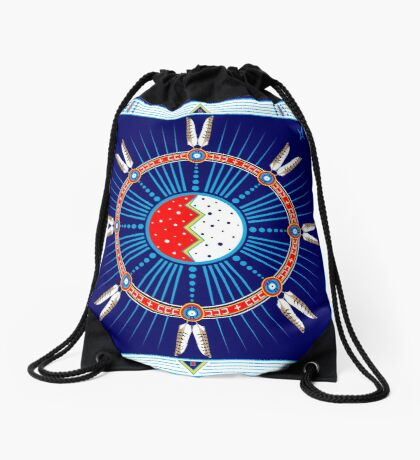 Crazy Horse Dreaming Drawstring Bag
