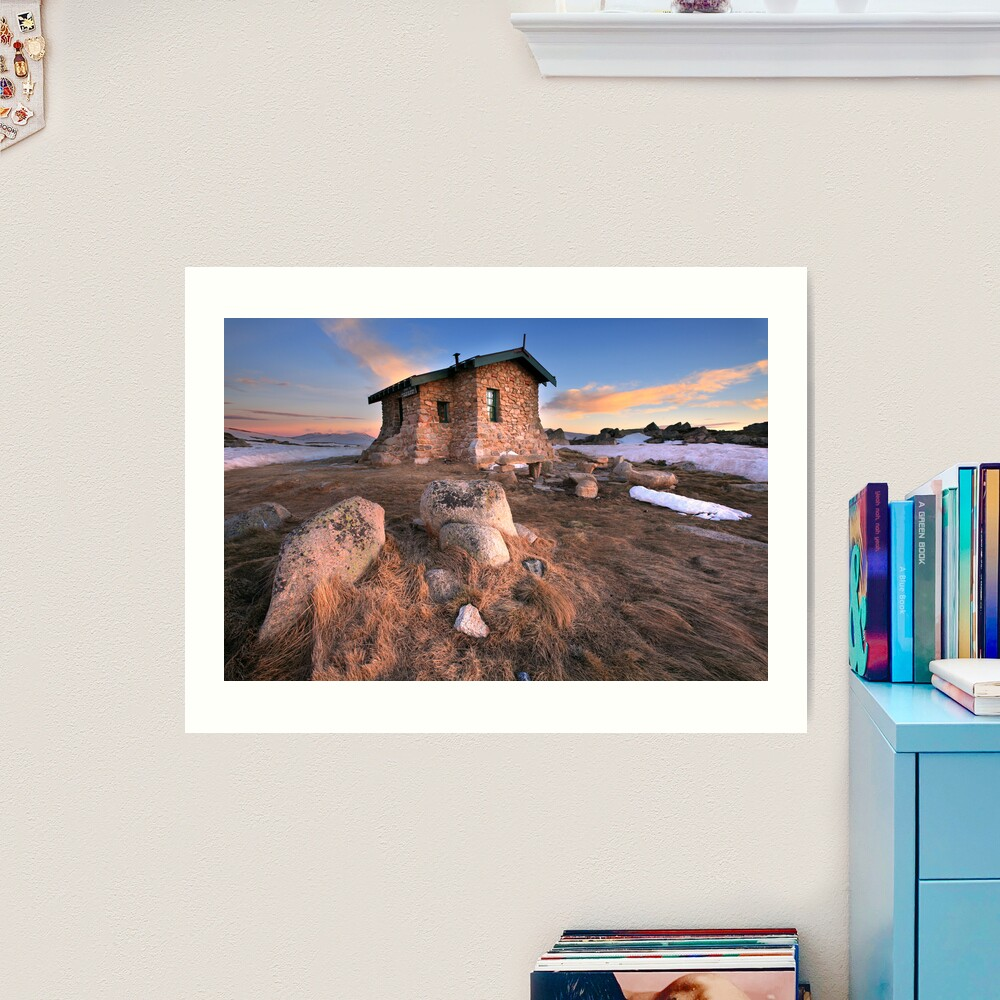 Seamans Hut Dawn, Mt Kosciusko, Australia  Art Print
