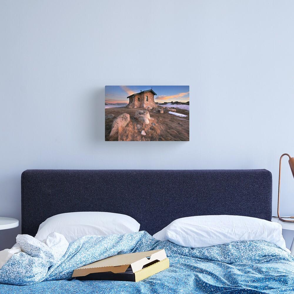 Seamans Hut Dawn, Mt Kosciusko, Australia  Canvas Print