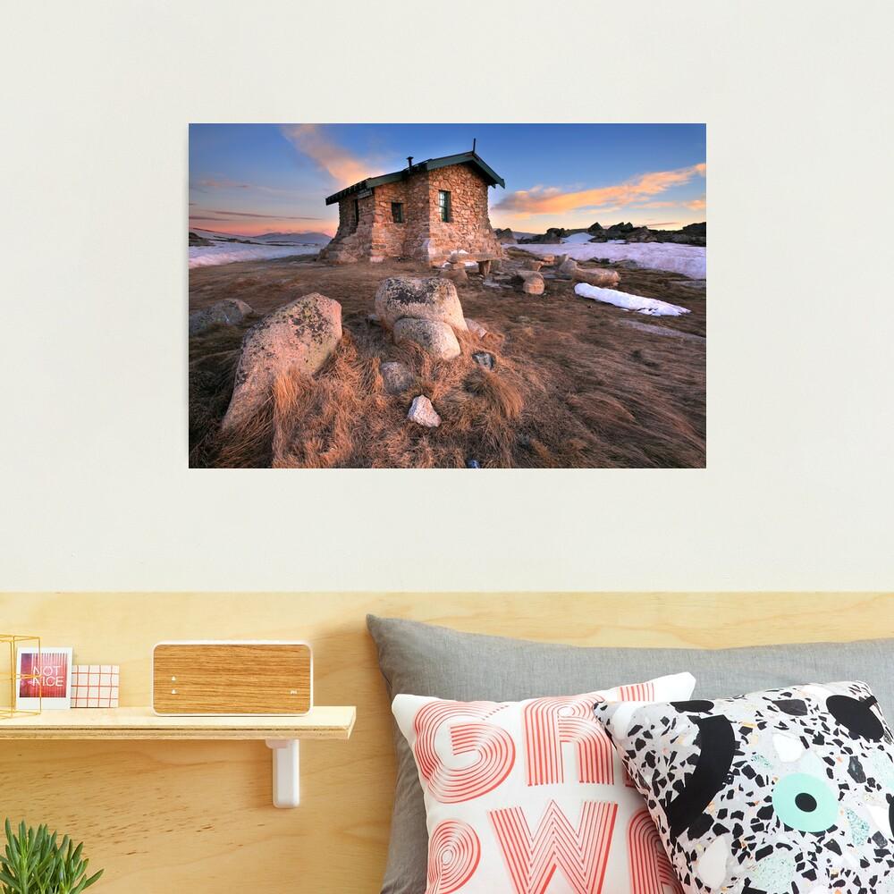 Seamans Hut Dawn, Mt Kosciusko, Australia  Photographic Print