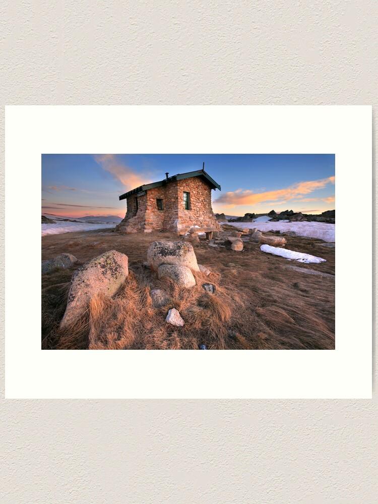 Alternate view of Seamans Hut Dawn, Mt Kosciusko, Australia  Art Print