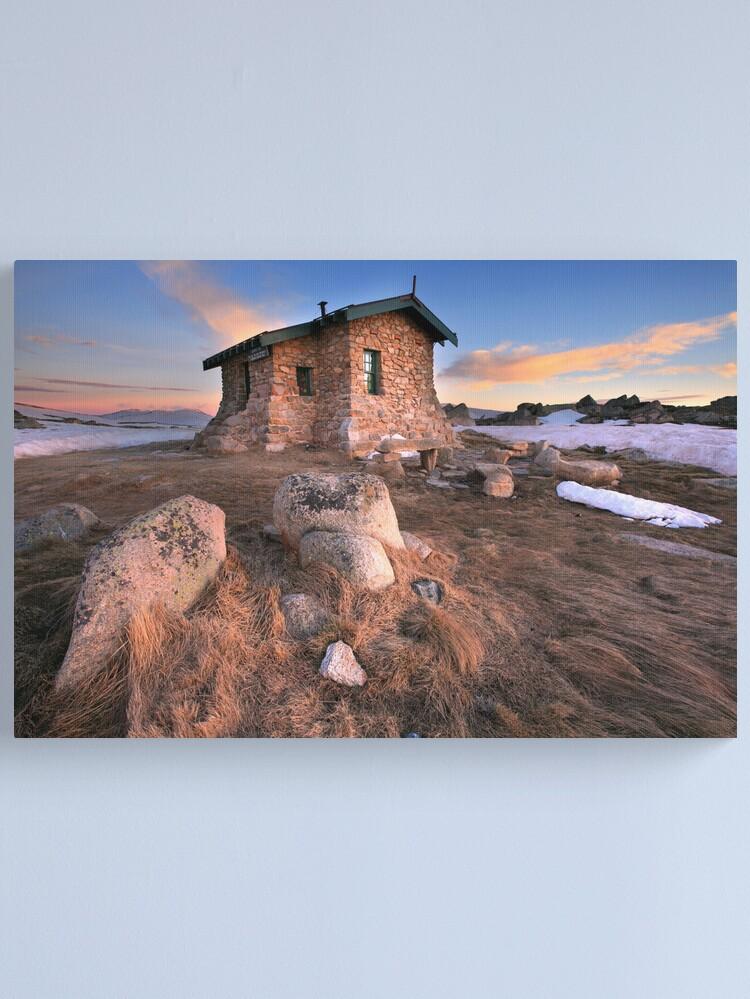 Alternate view of Seamans Hut Dawn, Mt Kosciusko, Australia  Canvas Print