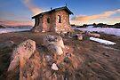 Seamans Hut Dawn, Mt Kosciusko, Australia  by Michael Boniwell