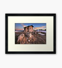 Seamans Hut Dawn, Mt Kosciusko, Australia  Framed Print