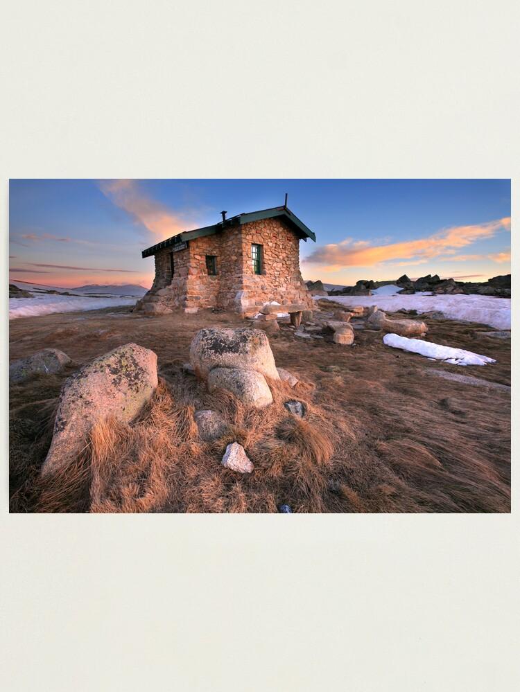 Alternate view of Seamans Hut Dawn, Mt Kosciusko, Australia  Photographic Print