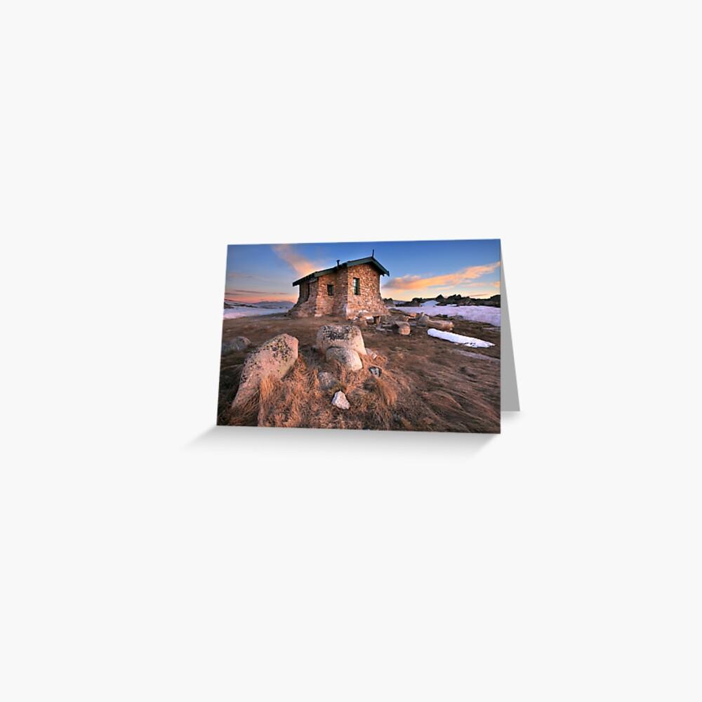 Seamans Hut Dawn, Mt Kosciusko, Australia  Greeting Card