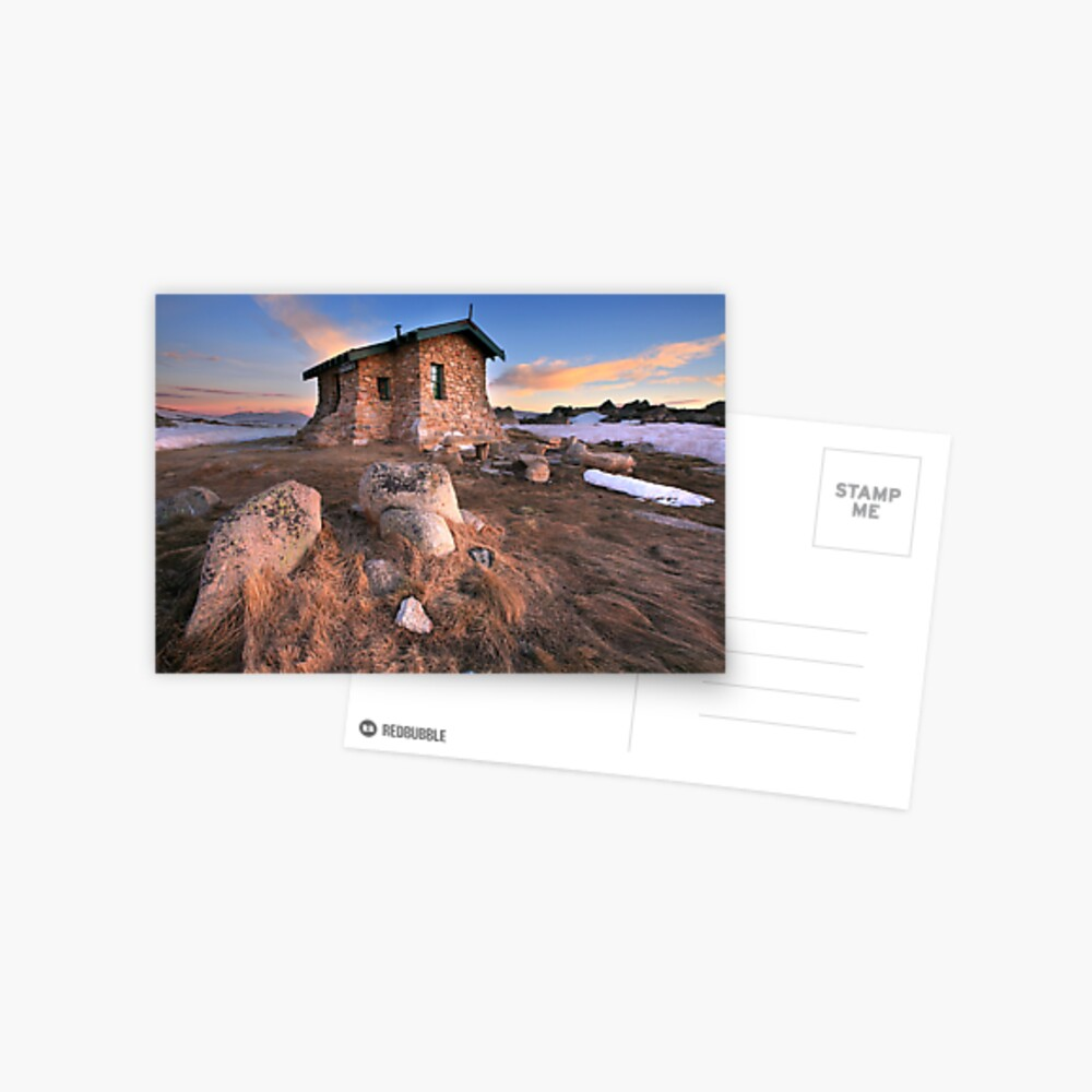 Seamans Hut Dawn, Mt Kosciusko, Australia  Postcard