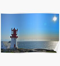 Lighthouse in Lindesness Norway Poster