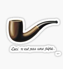 Magritte this is not a pipe Sticker