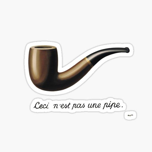 Magritte ce n'est pas une pipe Sticker