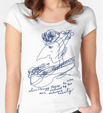 Stringy Women's Fitted Scoop T-Shirt