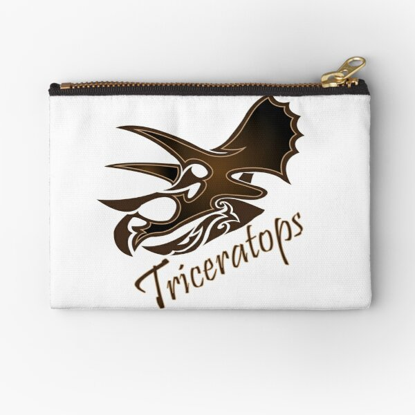 Triceratops Zipper Pouch
