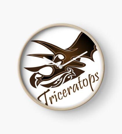Triceratops Clock