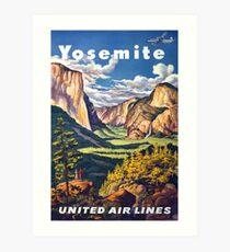 Weinlese-Yosemite-Reise-Plakat Kunstdruck